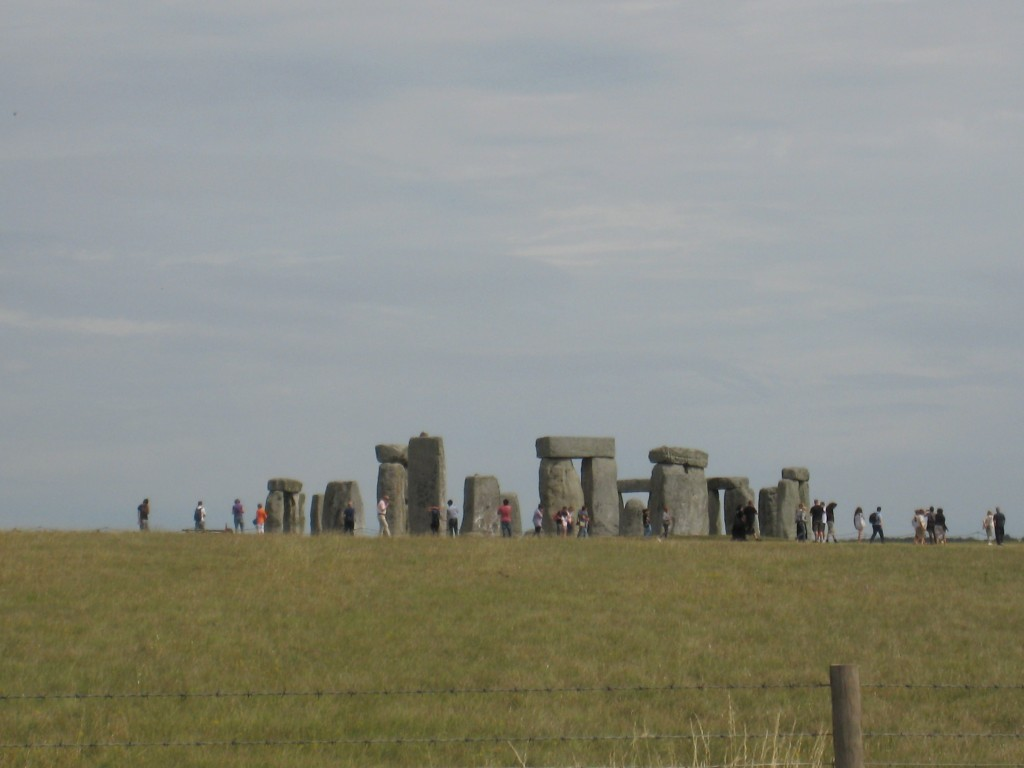 Stonehenge view from the rural highway