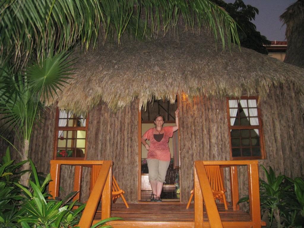 Karen at Ramon's Village in San Pedro, Belize