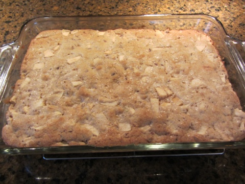 Recipe ~ Apple Blondie Cake (Dessert)