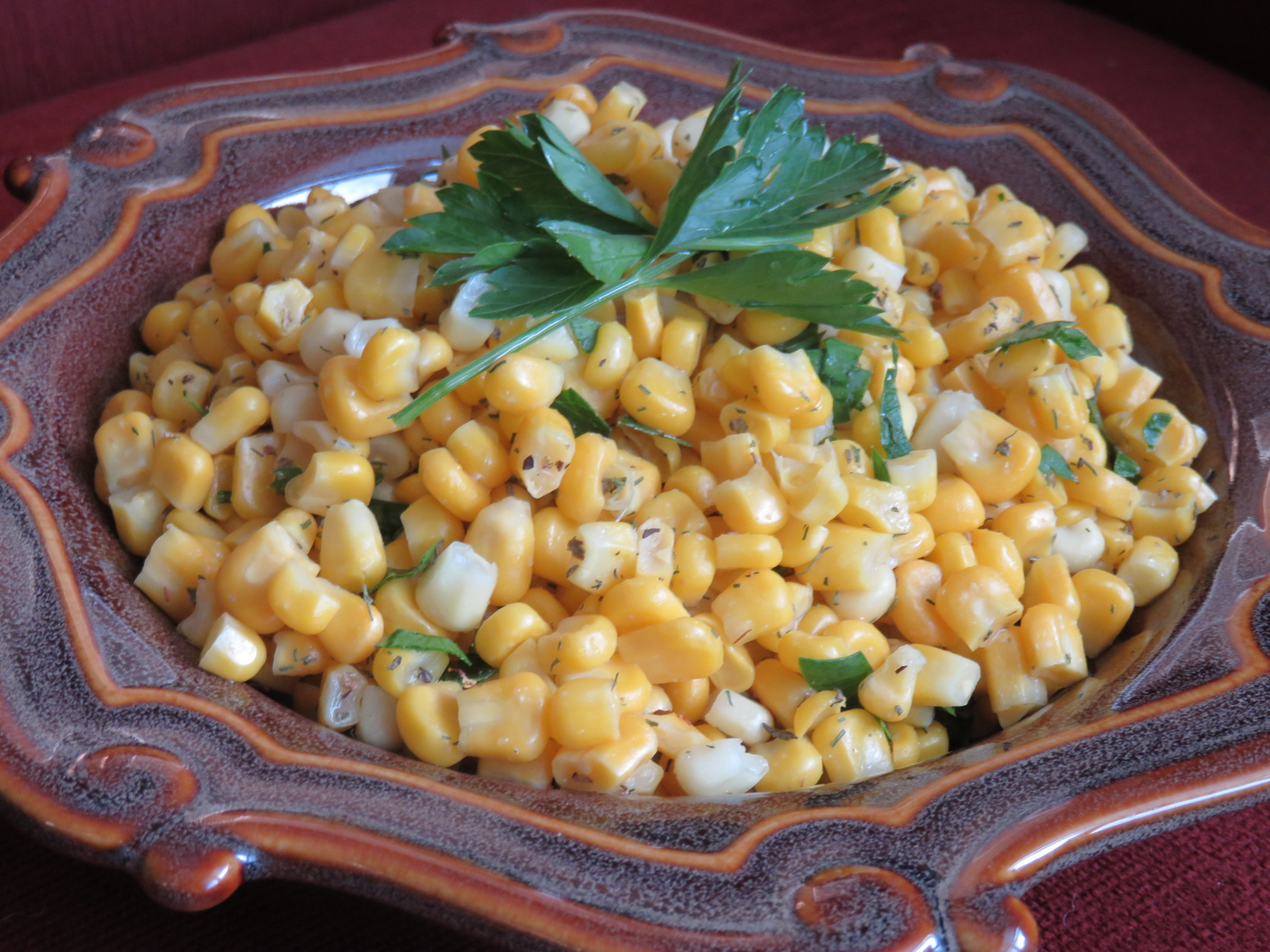Easy Recipe ~ Herbed Corn for a Crowd