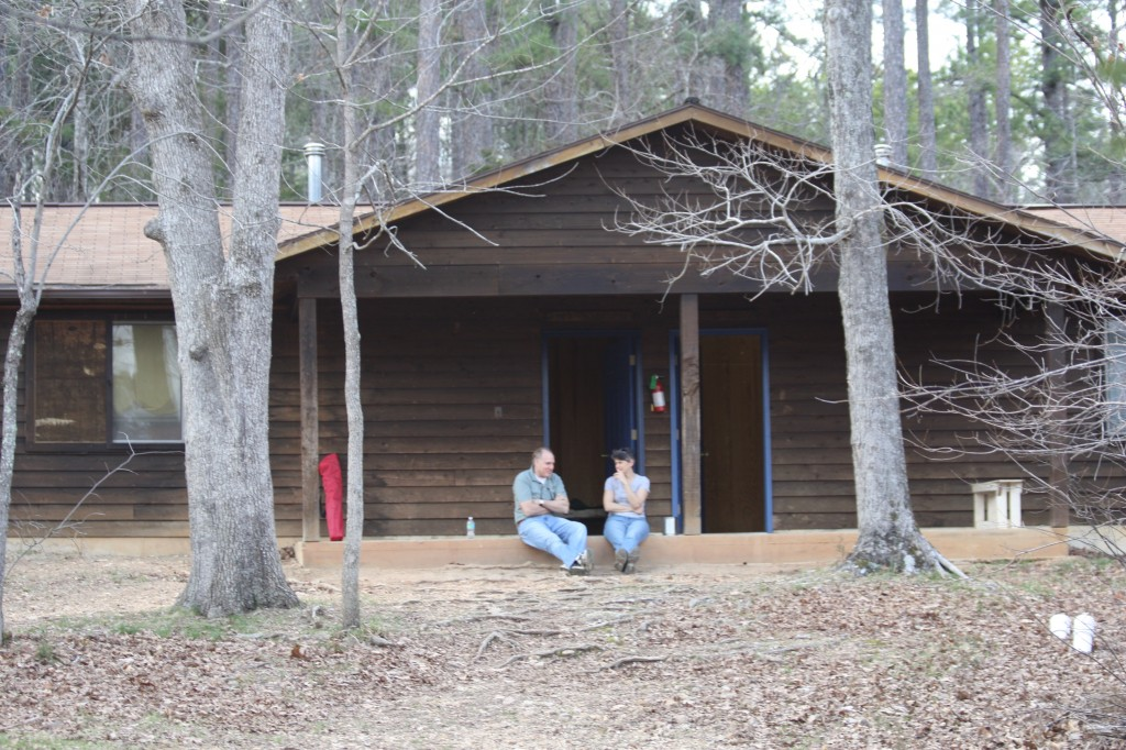 Sherwood Forest Camp Trades Weekend - relaxing at a cabin