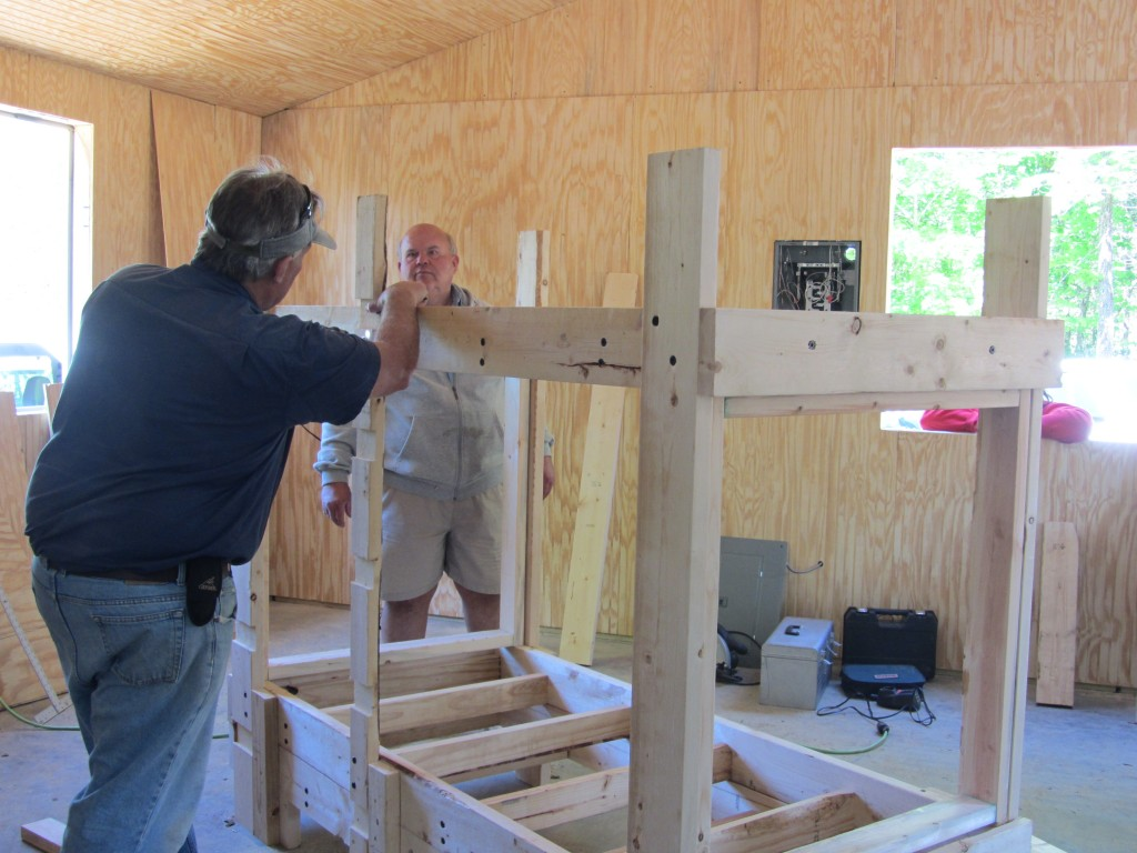 Sherwood Forest Camp Trades Weekend - building bunk beds