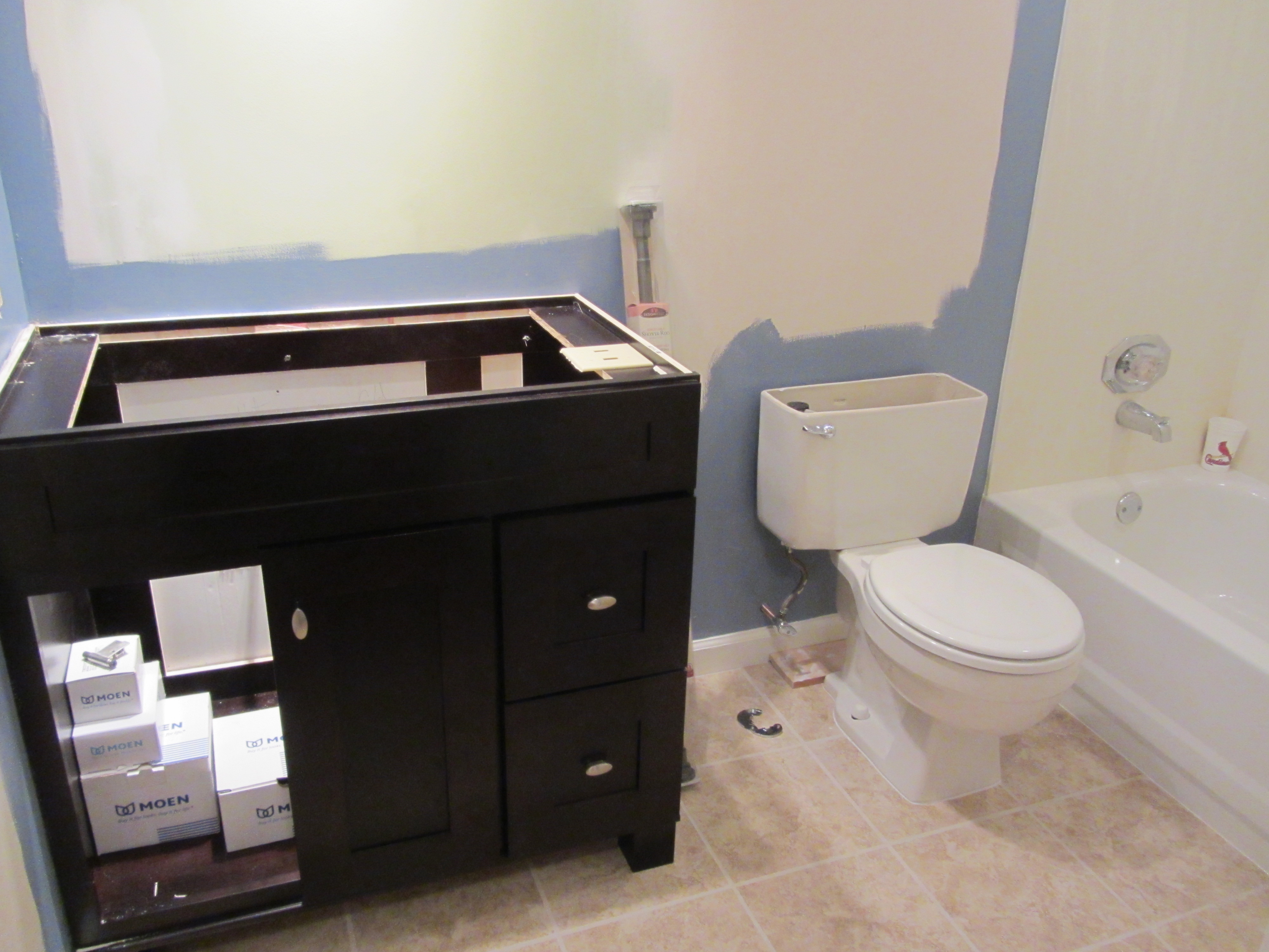 Brilliant Small Bathroom Remodel On A Budget Future Expat Largest Home Design Picture Inspirations Pitcheantrous