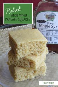 Baked Whole Wheat Pancake Squares | Future Expat