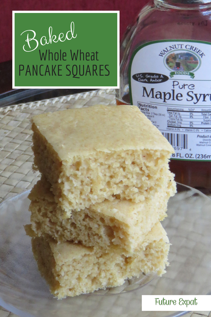 Baked Whole Wheat Pancake Squares | Future Expat