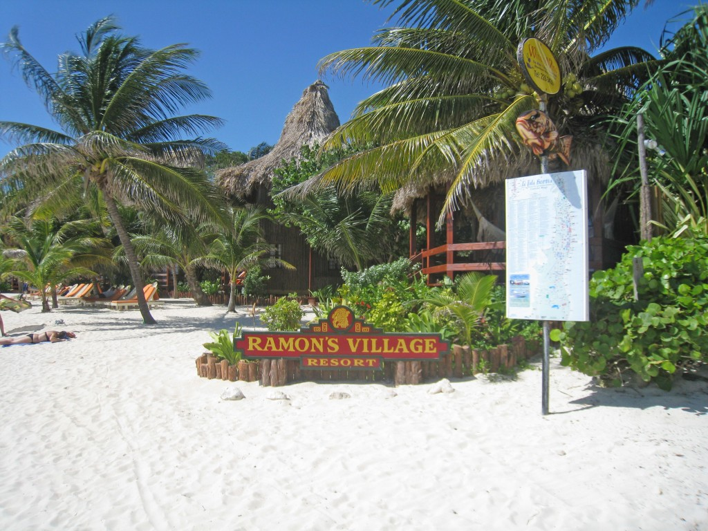 Ramon's Village Resort - beach sign