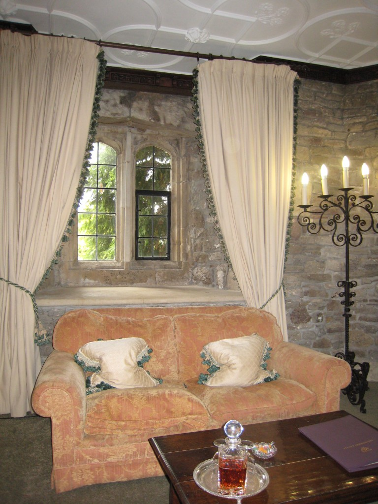 Thornbury Castle Hotel - sitting area in room