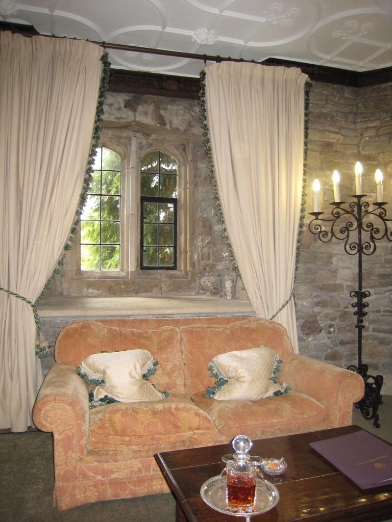 Thornbury Castle Hotel - sitting area in room