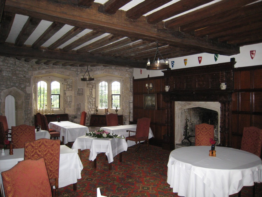 Thornbury Castle Hotel - dining area