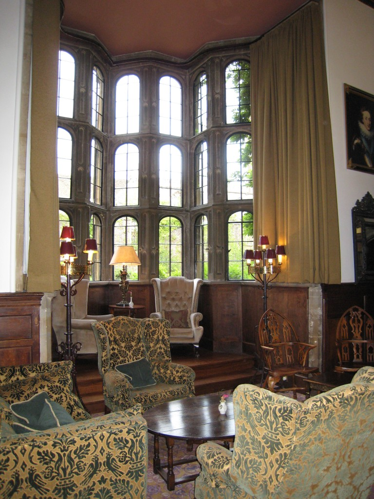 Thornbury Castle Hotel - wall of windows