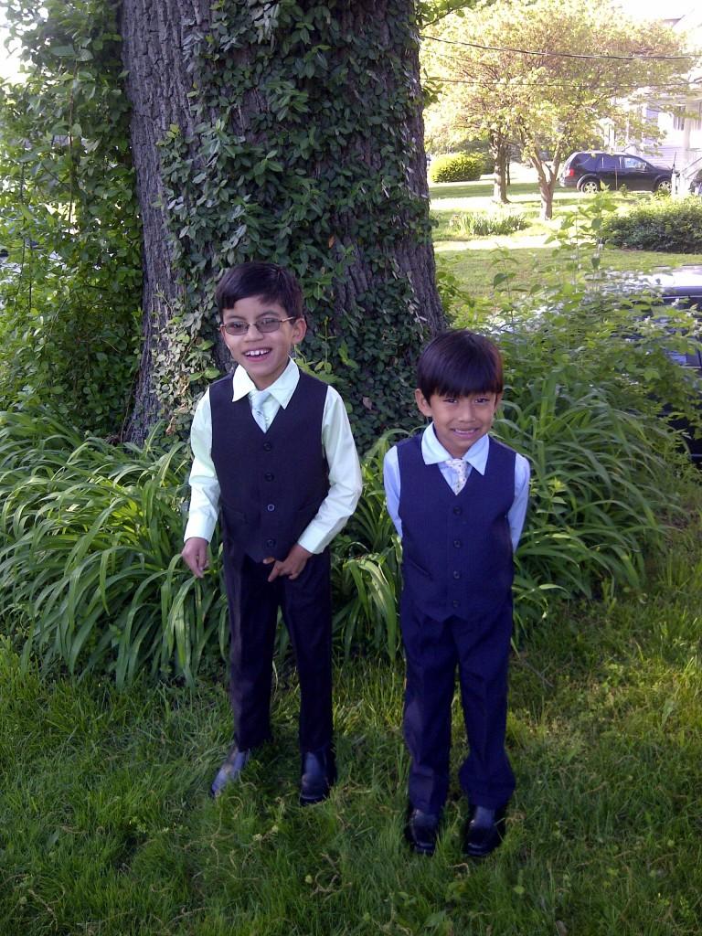 Orahood boys - dressed up