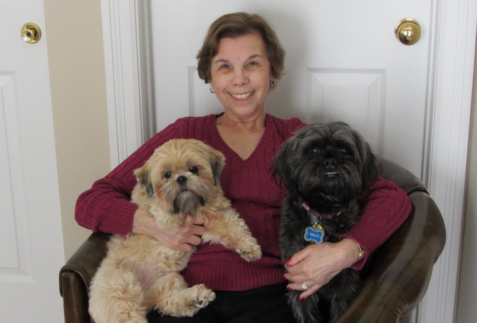 Milo and Lexi with Mom