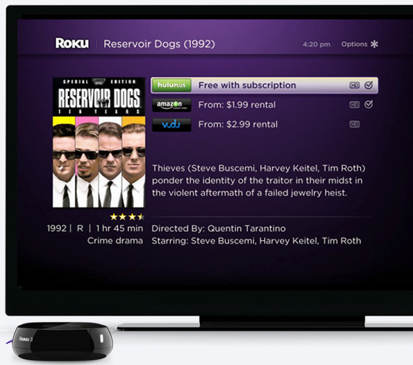Roku new search