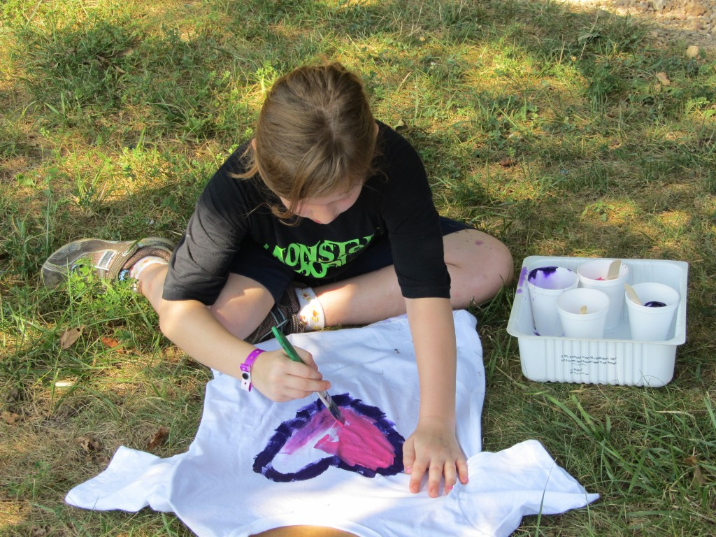 Sherwood Forest Camp - shirt painting