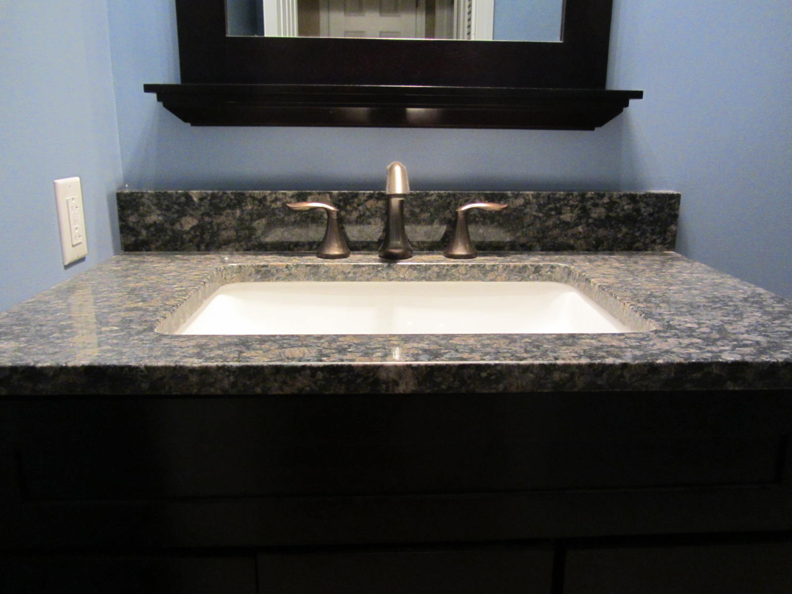 New Bathroom Granite Vanity Top From Remnant ...