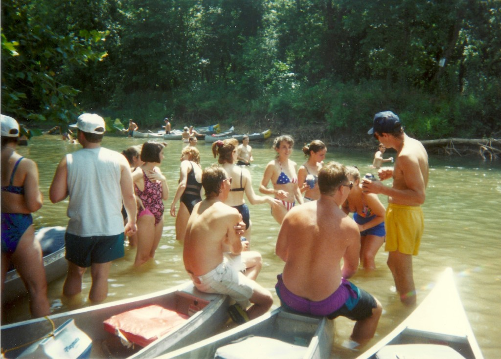 Canoe float trip 1995