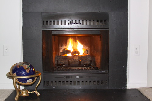 Gel Fireplace Logs can Transform an Unused Fireplace