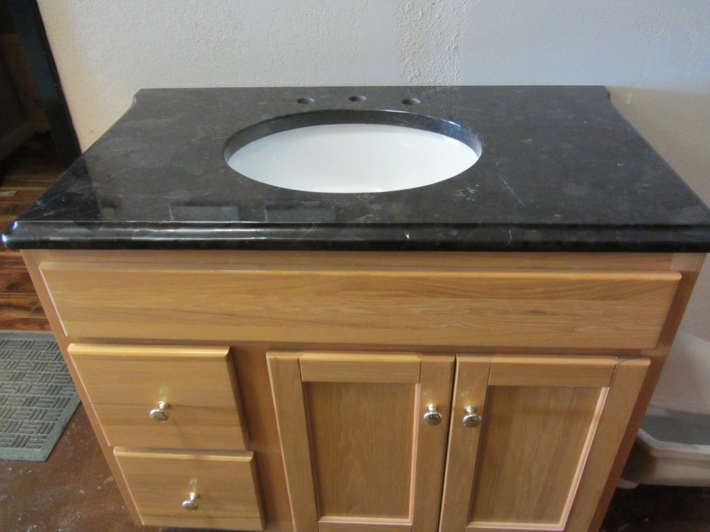 Granite Busters stock vanity top