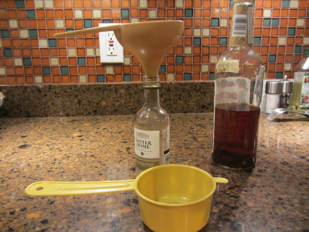 Use a strainer when making homemade vanilla extract