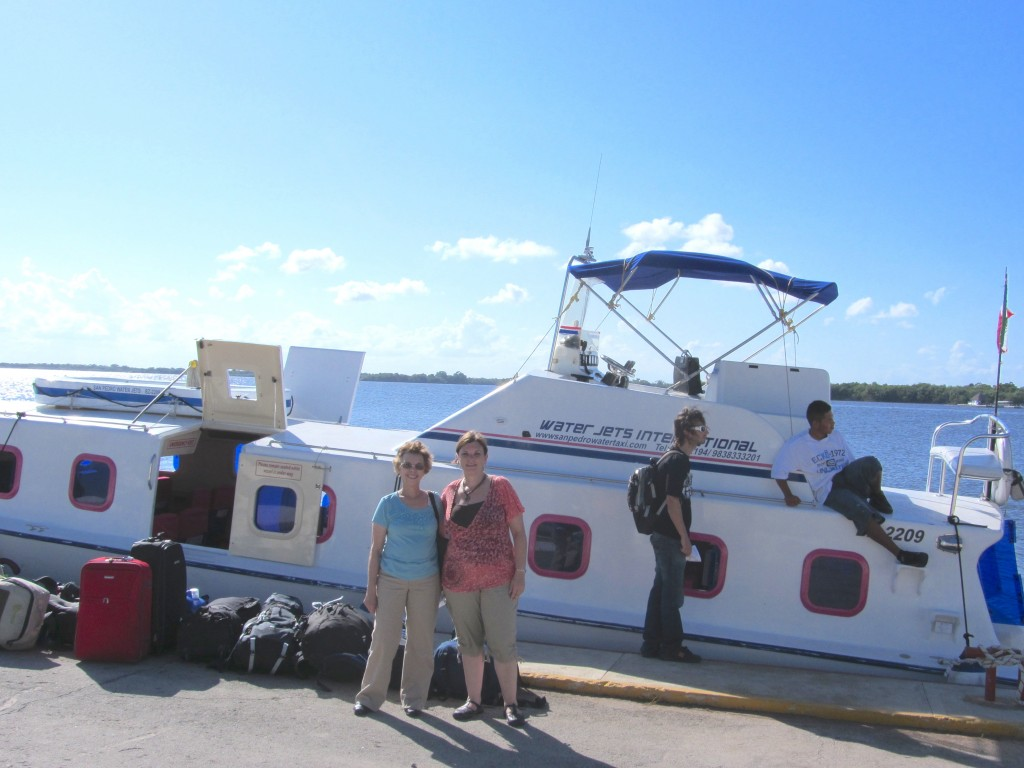 Water taxi from Chetumal, Mexico to San Pedro, Belize