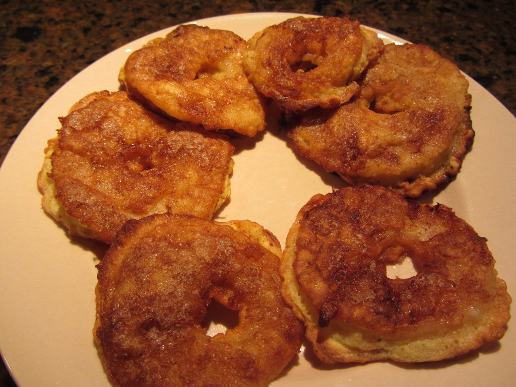 Sweet apple fritter recipe after baking