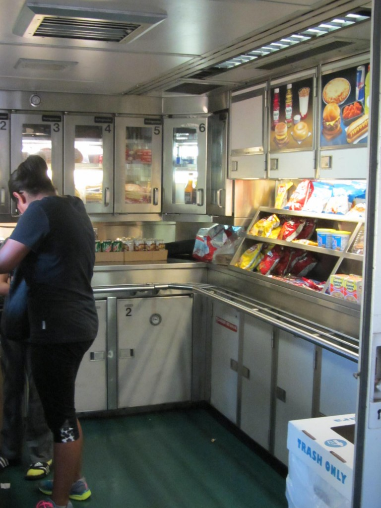 Amtrak - snack bar car