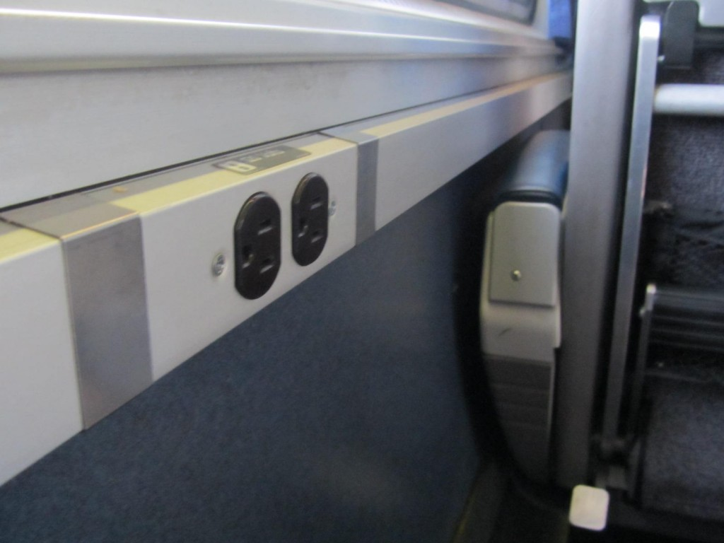 Amtrak - outlets at every seat