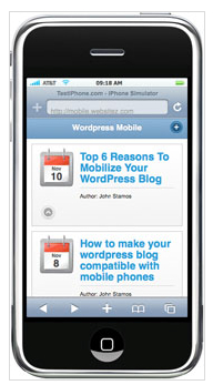 WP Mobile plugin for WordPress websites