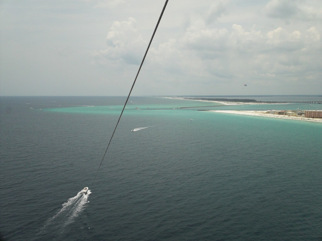 Sun Dogs Parasail - view from up in the air