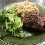 Balsamic Baken Chicken - on dinner plate