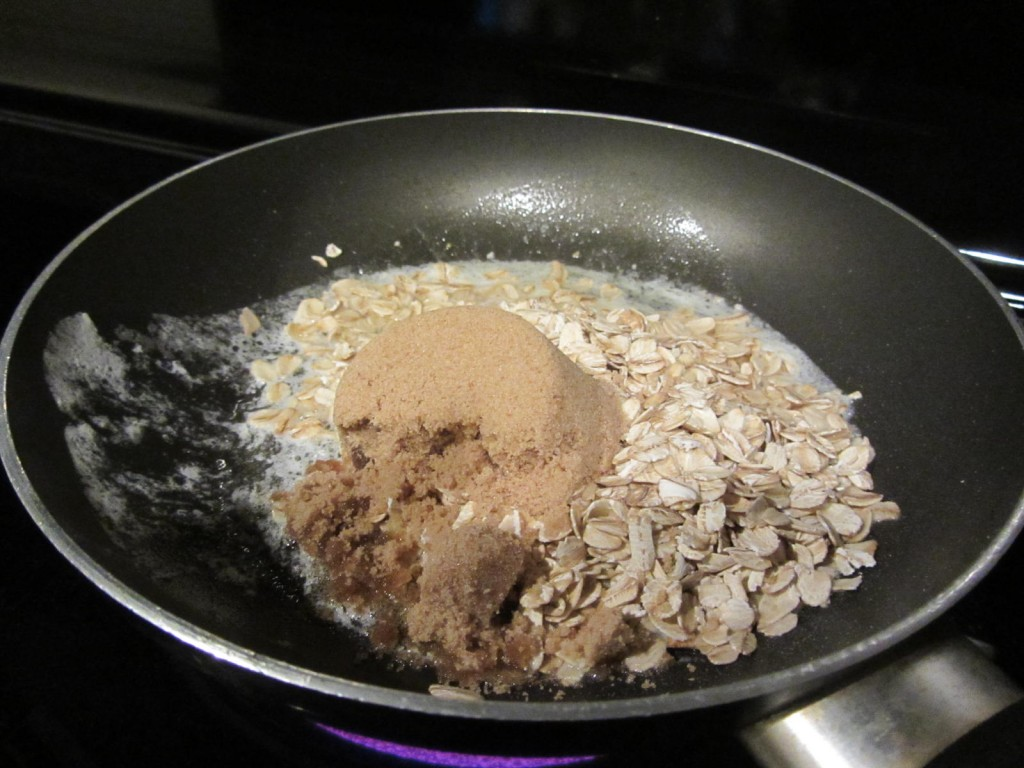 Oatmeal brown sugar topping preparation