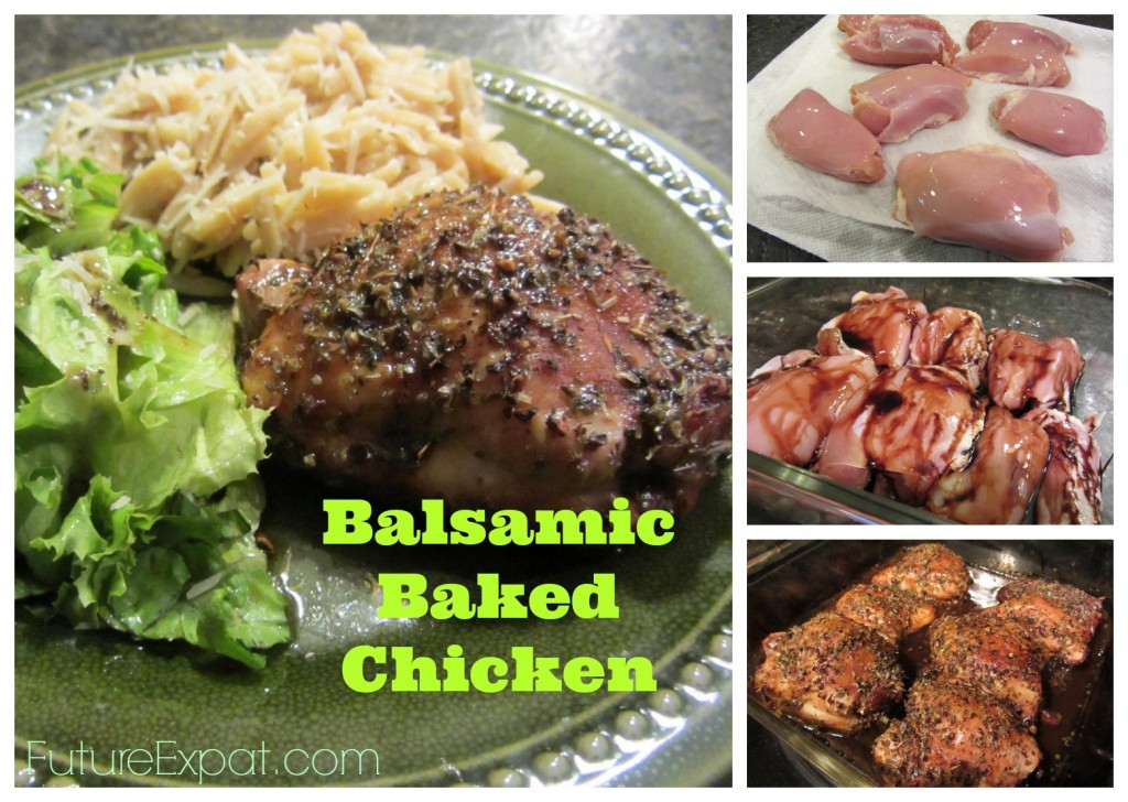 Balsamic Baked Chicken collage