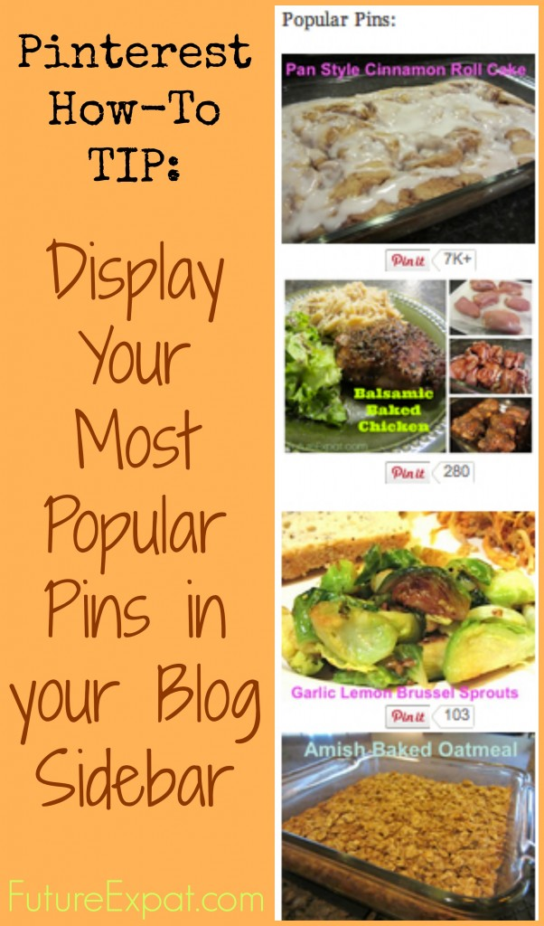 Pinterest Tip - How to create a popular posts widget