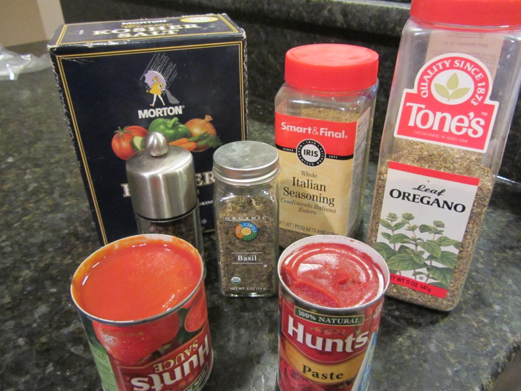 Lasagna sauce ingredients