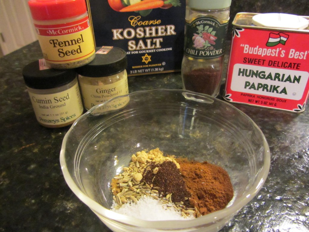 Spices for grilled spicy potatoes