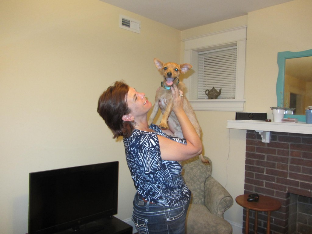 Beni and Karen at his new home