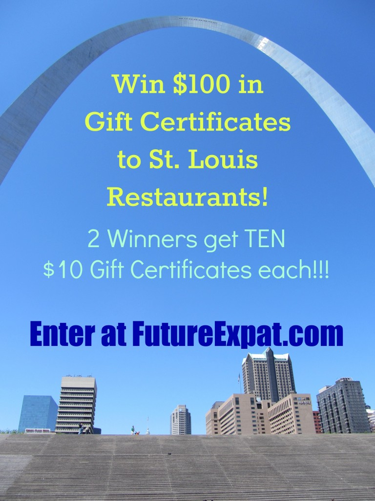 Restaurant gift certificate giveway