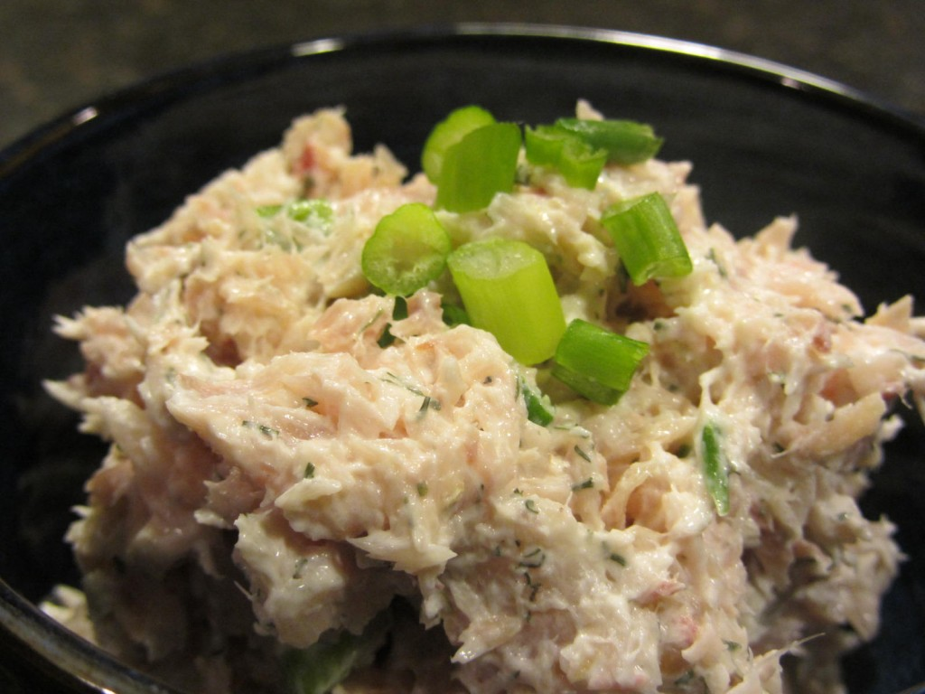 Whitefish salad in bowl