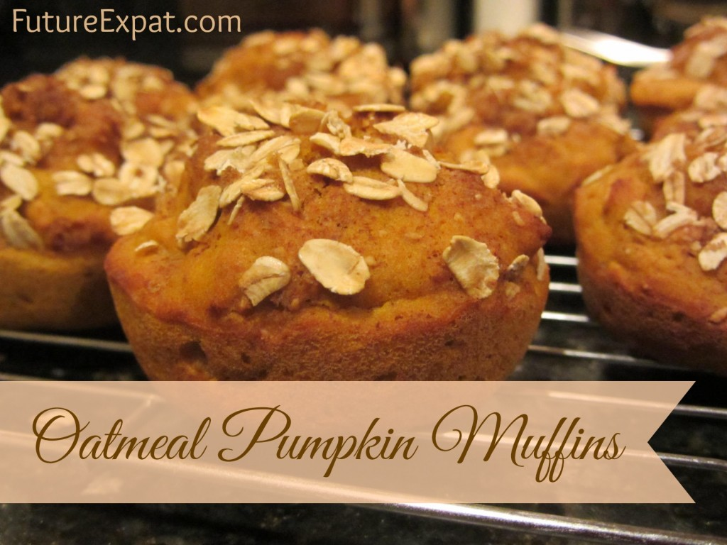 Oatmeal Pumpkin Muffins by Future Expat