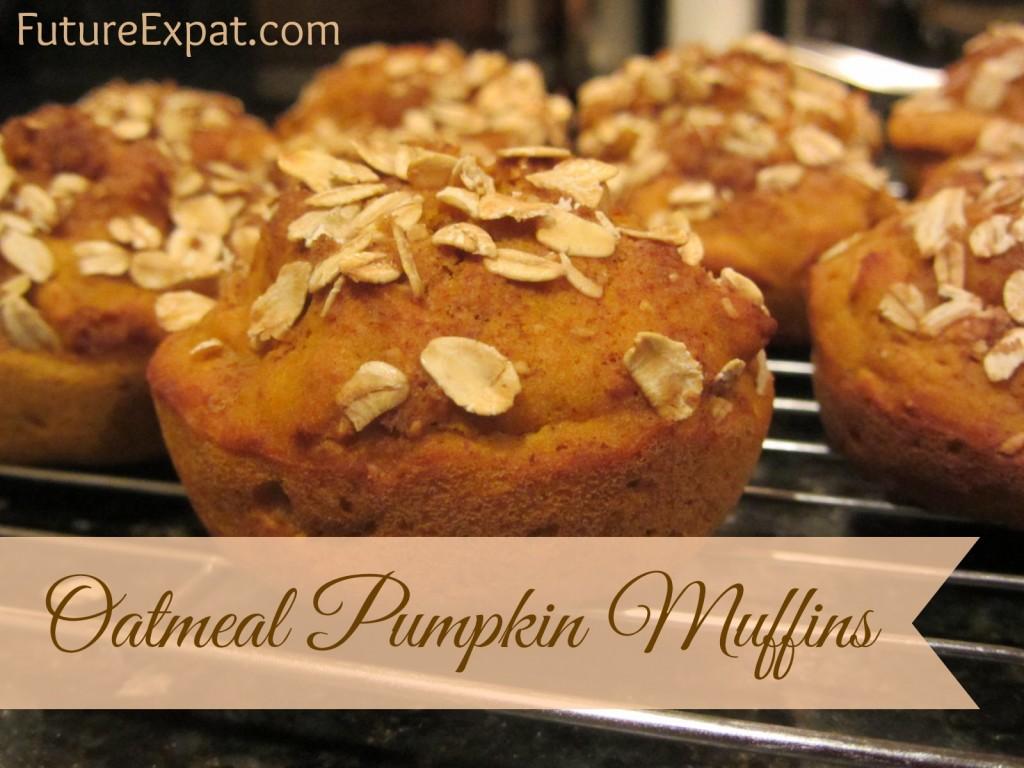 Oatmeal Pumpkin Muffins by Future Expat