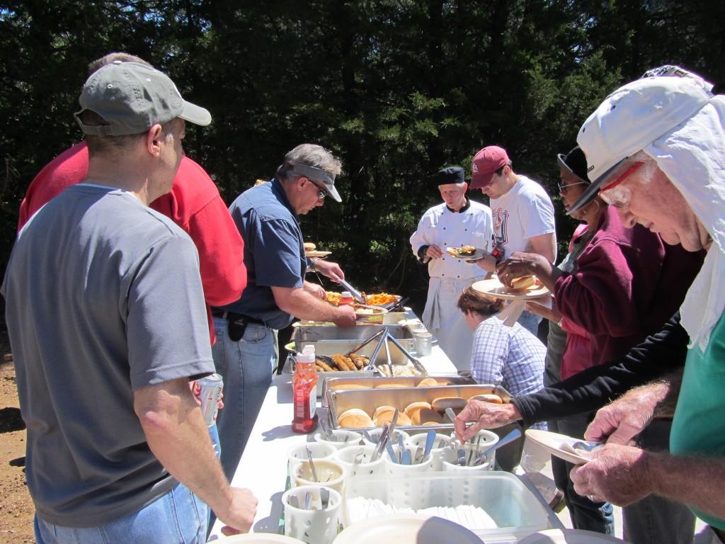 Sherwood Forest Camp mealtime