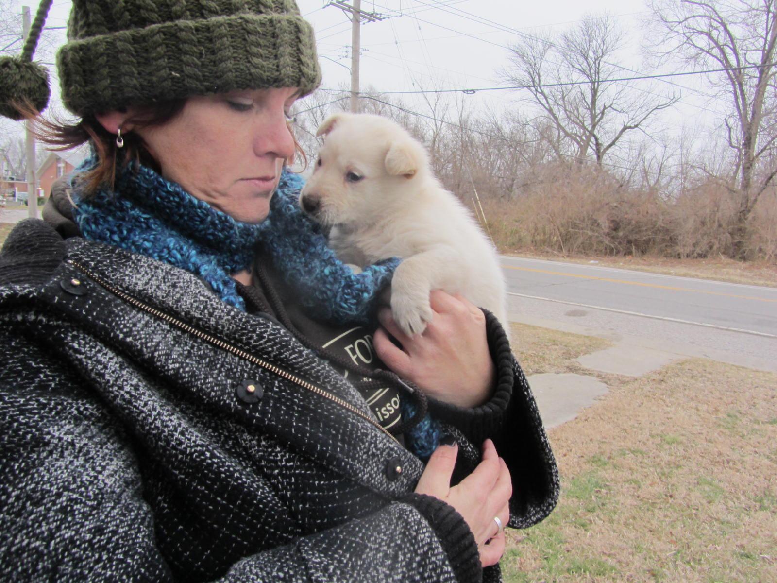 Karen Goodman with East St. Louis puppy