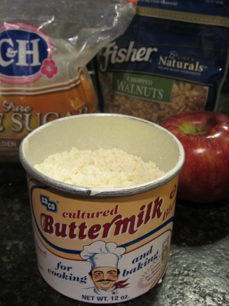 Apple pie coffeecake - ingredients - buttermilk