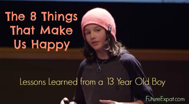13 Year Old Boy Shares 8 Things That Make Us Happy