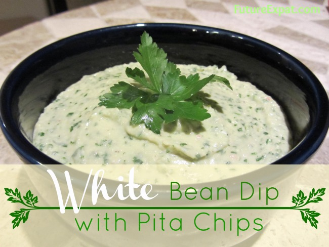 White Bean Dip with Pita Chips - Future Expat