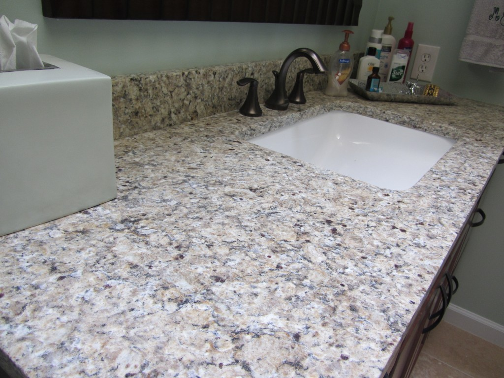 Suede granite vanity top for bathroom