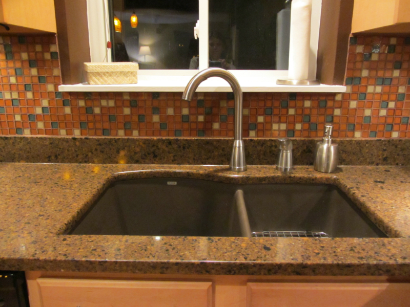 Blanco brown granite kitchen sink