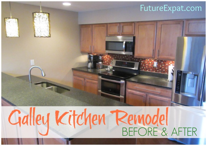 Galley kitchen remodel - before and after pictures