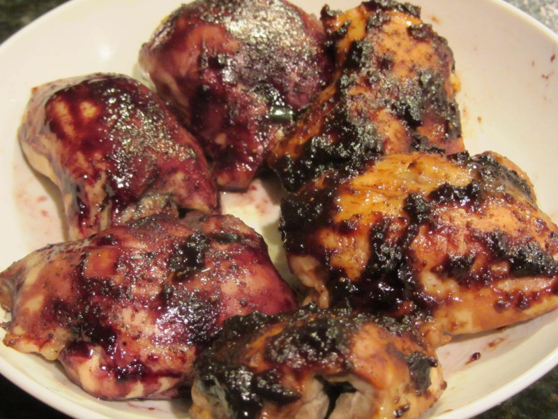 Chicken with jelly baked