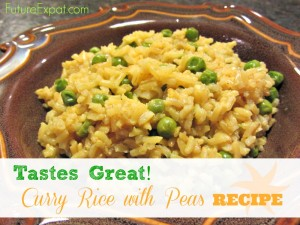 Tastes Great Recipe: Curry Rice with Peas - Future Expat